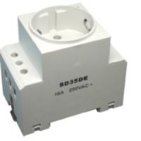 Power Plugs CEE 7/4 Rail-mountable socket, german system