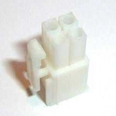 Mini Universal MATE-N-LOK plug housing 4-pole