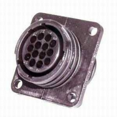 AMP CPC Flange-Receptacle housing for female contacts 14-pole