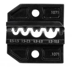 Crimpmatrize für unisolierte Verbinder 0,5-10,0mm²