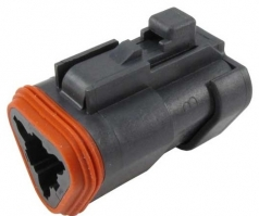 DEUTSCH DT-Series Housing for female contacts 3-pole with end cap