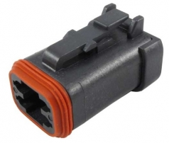 DEUTSCH DT-Series Housing for female contacts 4-pole with end cap