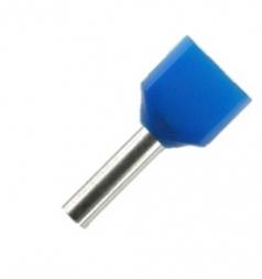 Doppel-Aderendhülsen 10mm blau 2x2,5mm² - 250er VE
