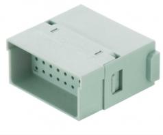 Han Full High Density modul male insert, 0,08-0,52mm², crimp
