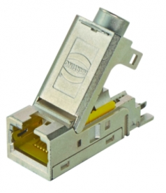 Han RJ45 cable jack, AWG 24-22mm², 4 poles