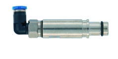 pneumatic male contact metal without shut off 3mm, angled