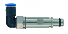pneumatic male contact metal without shut off 4mm, angled