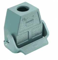 Han HMC cable to cable housing, 1 x M25, high construction