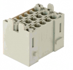 Han-Yellock multiplier block, male insert, crimp, 0,14 - 4 mm²