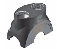 Han-Yellock 60 shell, top entry, push button, 2xM25