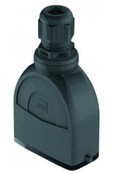 Han-Eco A 10A hood, integr. cable gland, top entry, 1xM20, outdoor