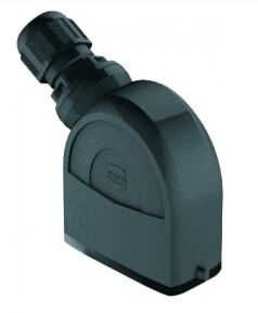 Han-Eco A 10A hood, integr. cable gland, side entry, 1xM20, outdoor