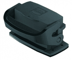 Han-Eco A 10A Bulkhead mounted housing, with thermo-plastic cover, outdoor