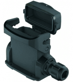 Han-Eco A 10A surface mounted housing, integr. cable gland, with thermo-plastic cover, side entry, 1xM20, outdoor