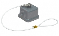 Han 3A protection cover for cable to cable housing, with fixing cord & seal
