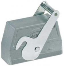 Han 16B hood, side entry, 1xM25, central locking lever (on the hood), high construction