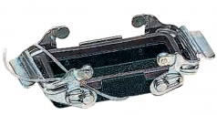 Han M 24B cable to cable housing, side entry, 1xM40, double locking lever, high construction