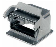Han EMC 10B housing for motor application, with thermo-plastic cover, single locking lever