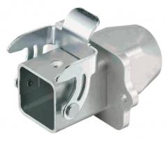 Han 3A EMV panel feed through housing, top entry, 1xM20, single locking lever