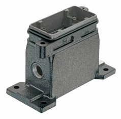 Han 10B HPR surface mounted housing, side entry, 1xM20, screw locking