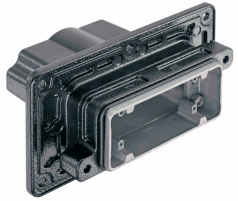 Han 16B HPR panel feed through housing, for mounting from inside, top entry, 2xM25, screw locking