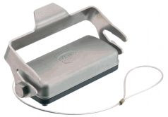 Han 10B Han-Inox protection cover, for hoods, metal, with fixing cord, single locking lever