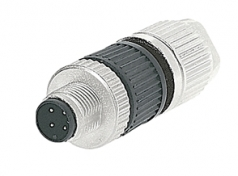 HARAX M12-L male connector straight 4 poles A-coded