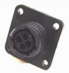 AMP CPC Flange-Receptacle housing for female contacts 4-pole