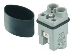 HAN Q 2/0 High Voltage male insert 4-10mm²
