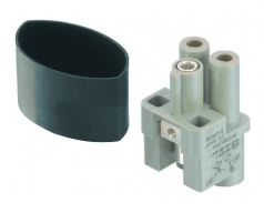 HAN Q 2/0 High Voltage female insert, 2,5 - 6 mm²