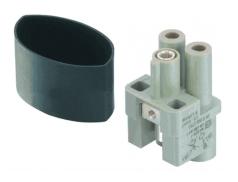 Han Q 2/0 High Voltage female insert 4-10mm²