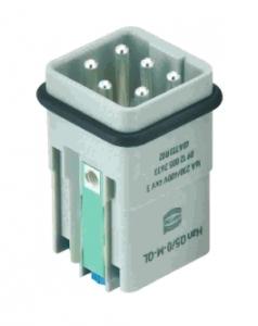 Han Q 5/0 male insert Quick Lock 0,5-2,5mm²