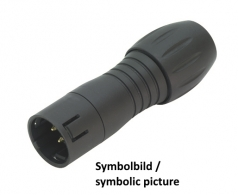 Binder Male Cable Connector Series 720 12-pin