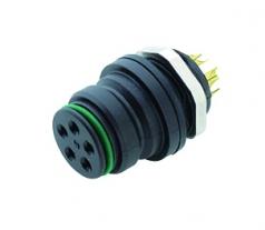 Binder Female Flange Connector Series 720 5-pin