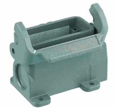 Han 10A surface mounted housing, side entry, 1xM25, grey