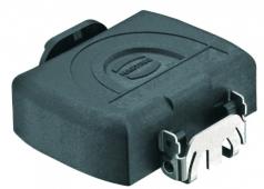 Han-Yellock 30 protection cover for bulkhead mounting