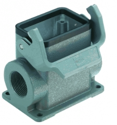 Han 6B surface mounted housing, side entry, 2xM25, high construction