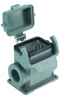 Han 6B surface mounted housing, with thermo-plastic cover, side entry, 2xM32, high construction