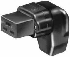 solid rubber appliance socket, angled like VDE 0625 / EN 60 320 / C19