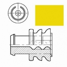 single wire seal yellow for wire diam. 2.1-3.0mm, cavity diam. 5.4mm