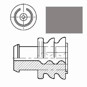 single wire seal grey for cavity diam. 5.4mm