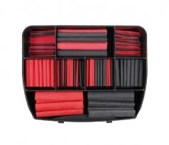Assortment of heat-shrinkable tubes red / black
