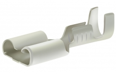 Receptacles 6,3x0,8mm, 0,5-1,5mm² with retaining snap, tinned