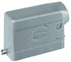 Han 10B hood, side entry, 1xM25, single locking lever