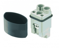 HAN Q 2/0 High Voltage insert male 1,5-10mm²