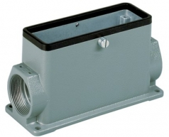Han-Eco 16B surface mounted housing, side entry, 2xM32, central locking lever (on the hood), high construction
