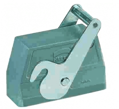 Han 24B hood, side entry, 1xM32, central locking lever (on the hood), high construction