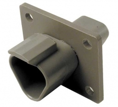 DEUTSCH Receptacle Housing 3-pole DT-Series with Flange