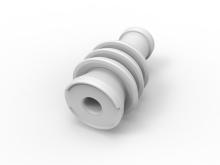 AMP MQS cavity plug white