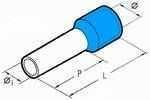 Isolierte Aderendhülsen 12 mm blau 2,5 mm² - 500er VE